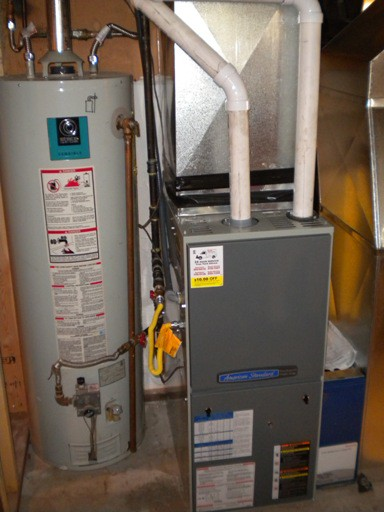 New furnace/ HWT moved