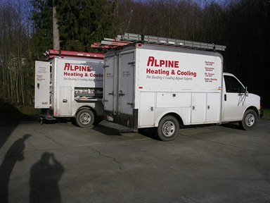 Alpine Heating And Cooling Vans