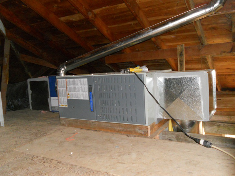 York To American Standard 80 In Attic Alpine Heating