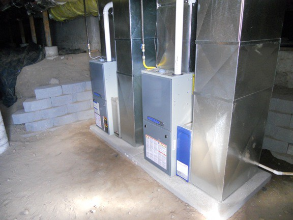 New American Standard furnaces in place