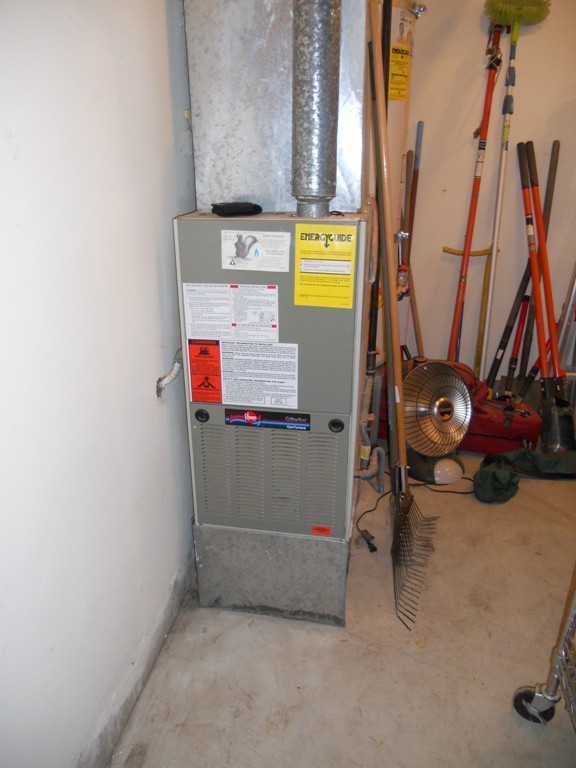 Existing Rheem gas furnace