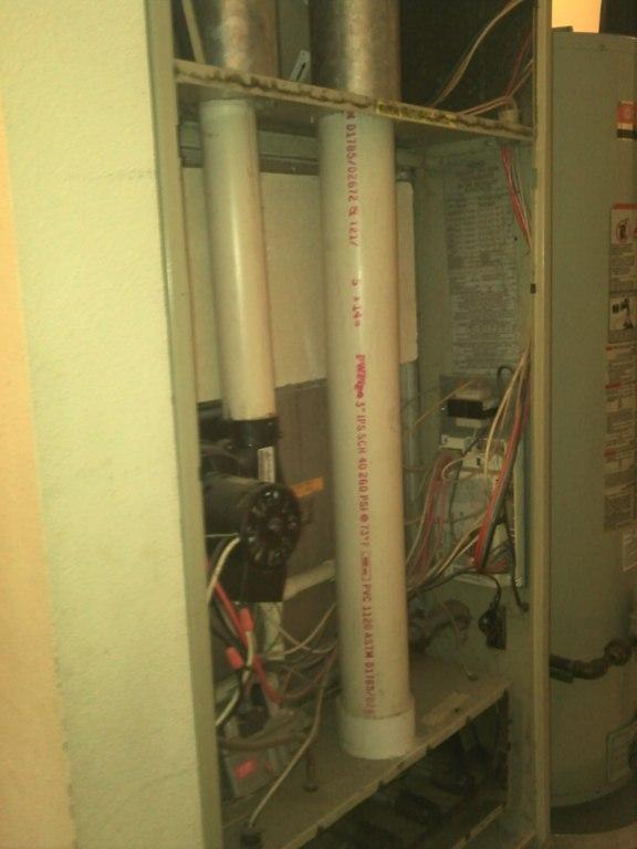 Arcoaire 90% gas furnace.
