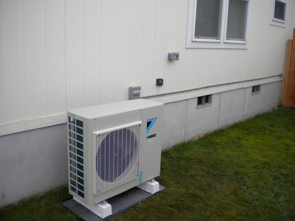best air conditioner for Skagit county - ductless mini split condenser unit from American Standard
