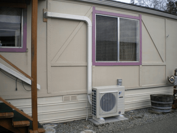 Daikin ductless mini split outdoor unit.