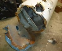 a rusted water heater